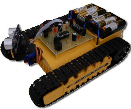 Lu Sensor Mobil tracked robot with ultrasonic sensor