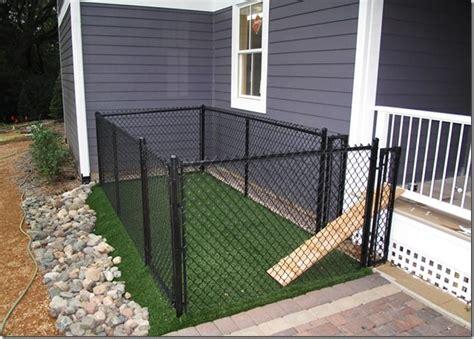 backyard dog run design landscaping gardening ideas