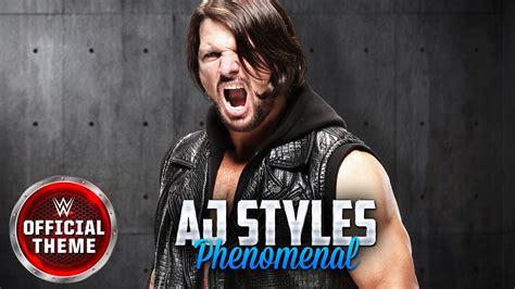 Theme Song Aj Styles   aj styles phenomenal entrance theme youtube