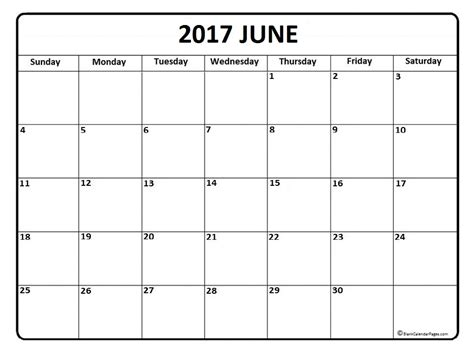 printable june schedule june calendar 2017 printable and free blank calendar
