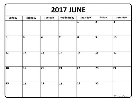 printable free june calendar june calendar 2017 printable and free blank calendar