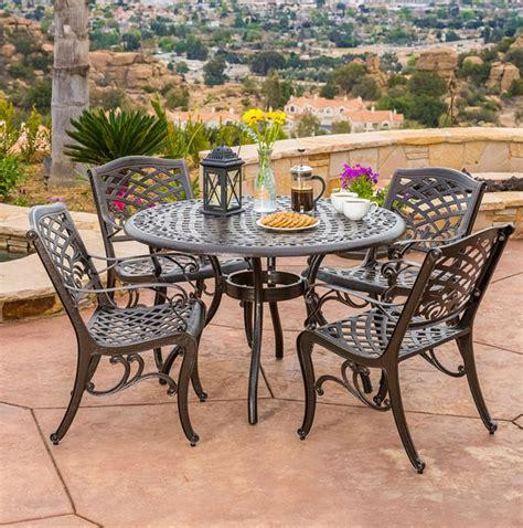 sturdy sets  patio furniture  cast aluminum
