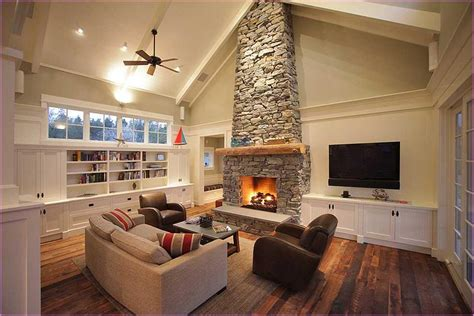 vaulted ceiling living room ideas