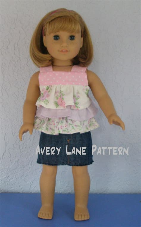 doll clothes pattern pdf items similar to 18 inch doll clothes sewing pattern 4