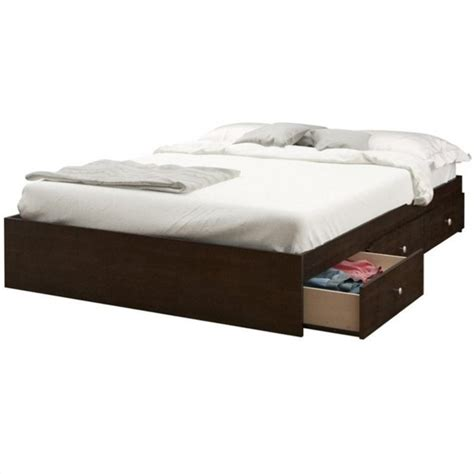 storage full bed full storage bed in espresso 4654