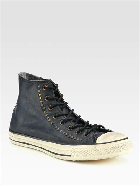 chuck leather sneakers converse chuck all studded leather hightop