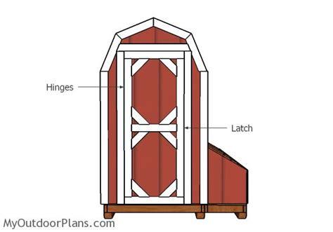 4x8 barn chicken coop doors plans myoutdoorplans free