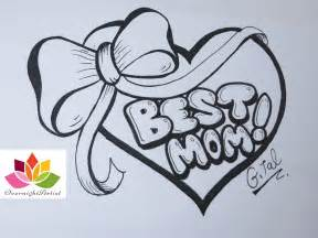 Easy drawings for mom draw mom how to draw mom in easy graffiti