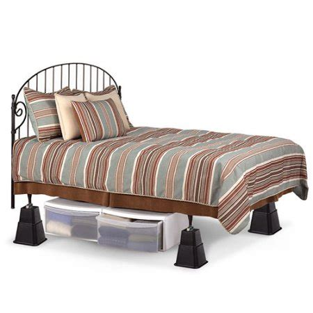 bed height extenders adjustable bed risers walmart com