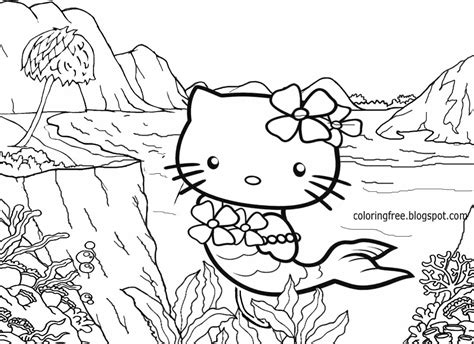 coloring pages hello mermaid free coloring pages printable pictures to color