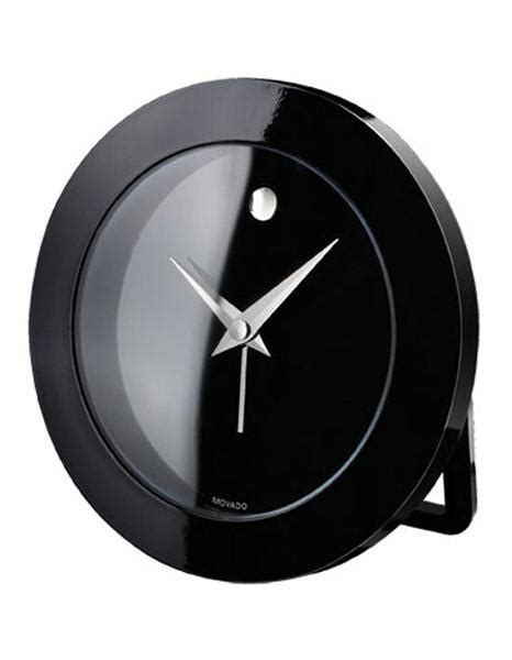 Movado Clock Desk Alarm Clock Rsi009m by Movado Desk Alarm Clock Black Stainless Steel Princeton Watches