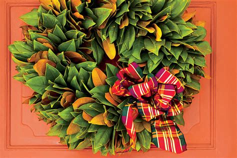 how to make a magnolia wreath southern living classic magnolia wreath festive christmas wreath ideas