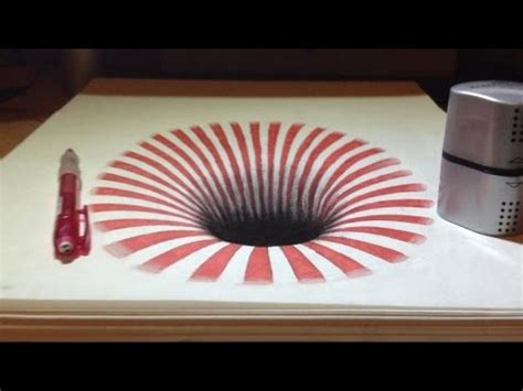 3d illusion l youtube dessin illusion trou 3d trompe l oeil youtube