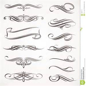 Free Decorative Line Divider Clipart Calligraphic Design Elements Stock Image Image 19521771
