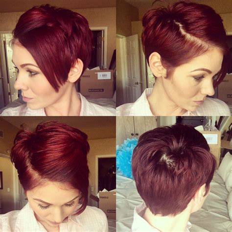 how to pin a fringe back pixie cut pixie 360 pinned back with a bobby pin redhair pixie