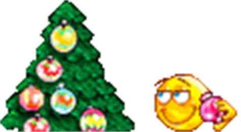 decorating xmas tree emoticon emoticons and smileys for