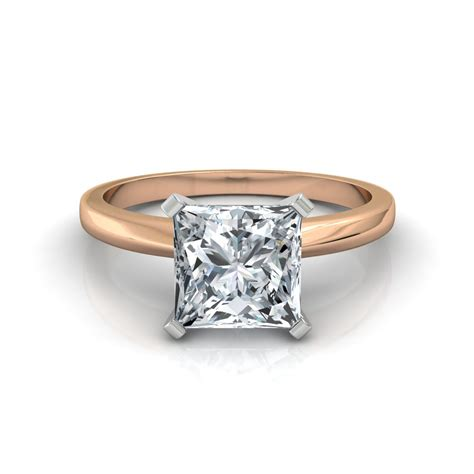 Princess Cut by Classic Princess Cut Engagement Ring In 14k White Gold