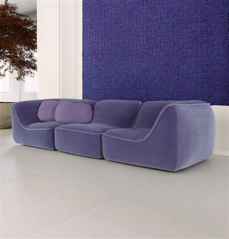 purple color sofa colorful couches home designing