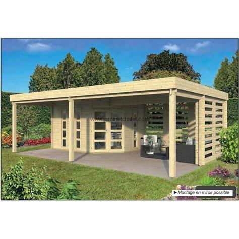 Chalet De Jardin Toit Plat 5803 by Abri De Jardin Toit Plat Chalet De Jardin 40m2 Oletha