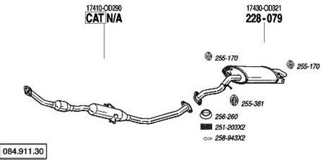Toyota Corolla Verso Exhaust Mr Exhaust Exhausts