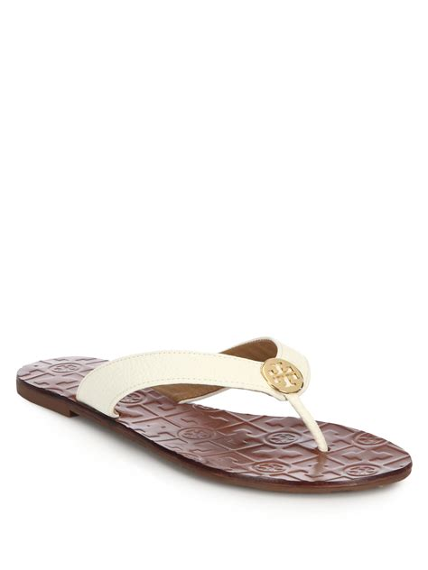 burch thora sandals burch thora tumbled leather sandals in brown lyst