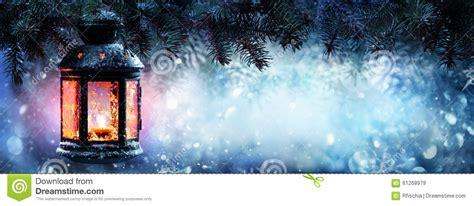 christmas lantern  snow stock image image  card