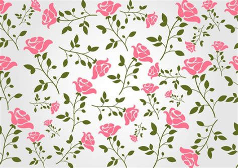 chic rose flower background pattern vector free download