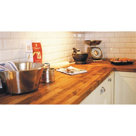 bunnings kitchen bench interbuild acacia hardwood benchtop panel 2200x600x26mm