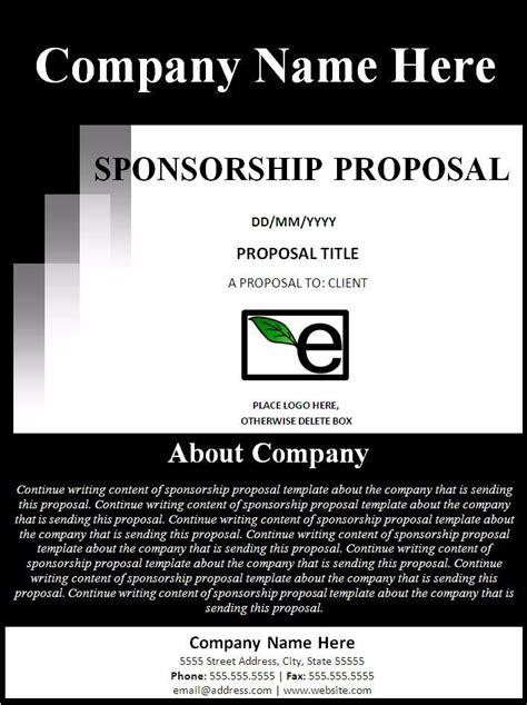 Sponsorship Proposal Template Free Formats Excel Word Dirt Track Racing Sponsorship Template