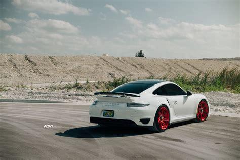 white porsche red white porsche 911 turbo s adv07r m v2 cs series