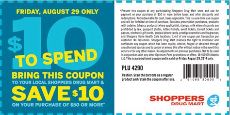 printable pers coupons 2014 shoppers drug mart canada printable coupons save 10 on