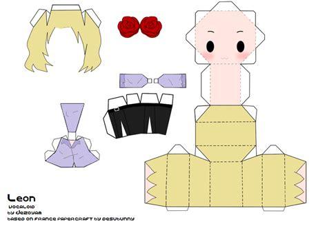 Papercraft Templates Anime - anime papercraft vocaloid papercraft by jezoyam on