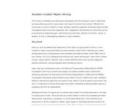 How To Write An Incident Report For Work Sample Best Photos Of Writing An Incident Report Sample