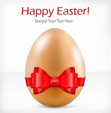 con il nastro rosa testo uovo con il nastro il testo illustrazione vettoriale