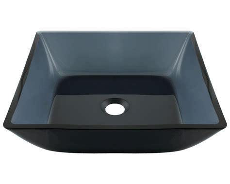 glass vessel bathroom sink 630 square black glass vessel bathroom sink