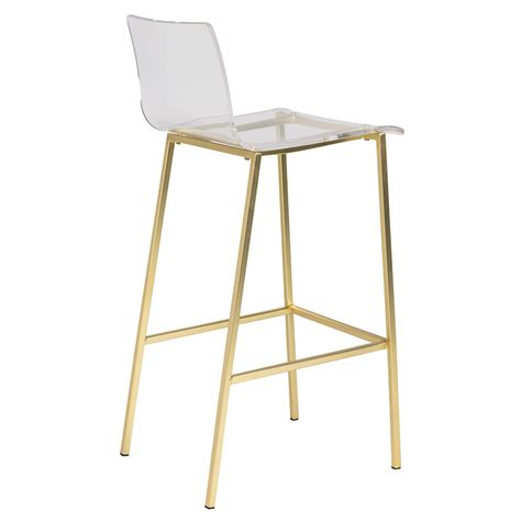 Brushed Gold Bar Stools by Modern Bar Stools Chandler Gold Stool Eurway Modern