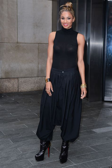 Ciara Top ciara steps out in harem and sheer top yea or nay