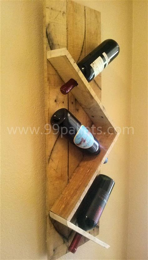 How To Make A Wine Rack From Pallets by Wooden Pallet Wine Rack Plans Pallet Wood Projects