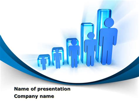 Rise Of Population In Histogram Powerpoint Template Backgrounds 09952 Poweredtemplate Com Demographics Powerpoint Template
