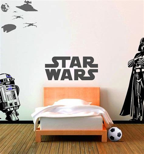 boys star wars bedroom star wars wall decal ideas