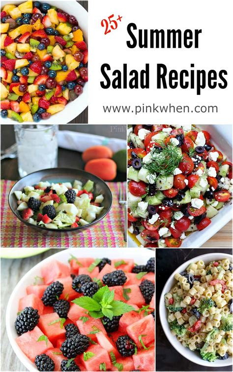 delicious summer salad recipes pinkwhen