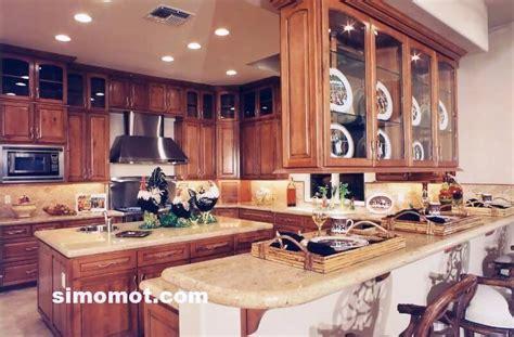 desain interior dapur mewah foto desain interior dapur kayu mewah 222 simomot