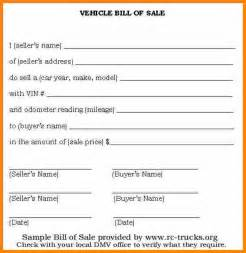5 basic bill of sale for car mileage tracker form
