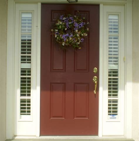 Glass Front Door Window Coverings Plantation Shutters For Sidelights Home And Hearth Front Doors Doors And Window