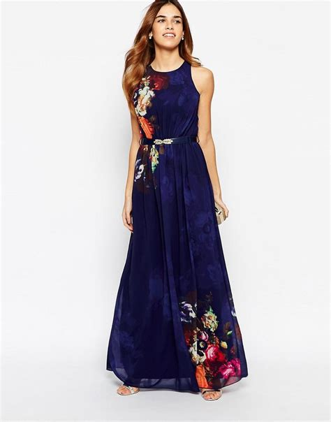 Maxi Dress Dasera image 1 of mirror floral belted maxi dress