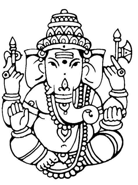 ganesh tattoo outline 27 best images about ganesh colourings on pinterest