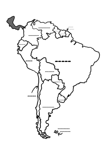 columbia south america coloring map coloring pages