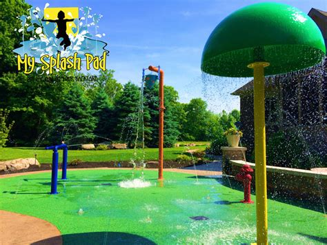 backyard sprinkler park residential splash pad in crawfordsville indiana by my