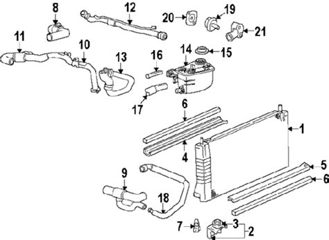 2000 ford taurus cooling system diagram hoses for 2000 ford taurus engine diagram get free image