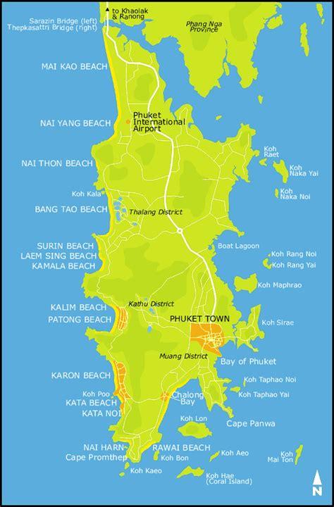 phuket island map